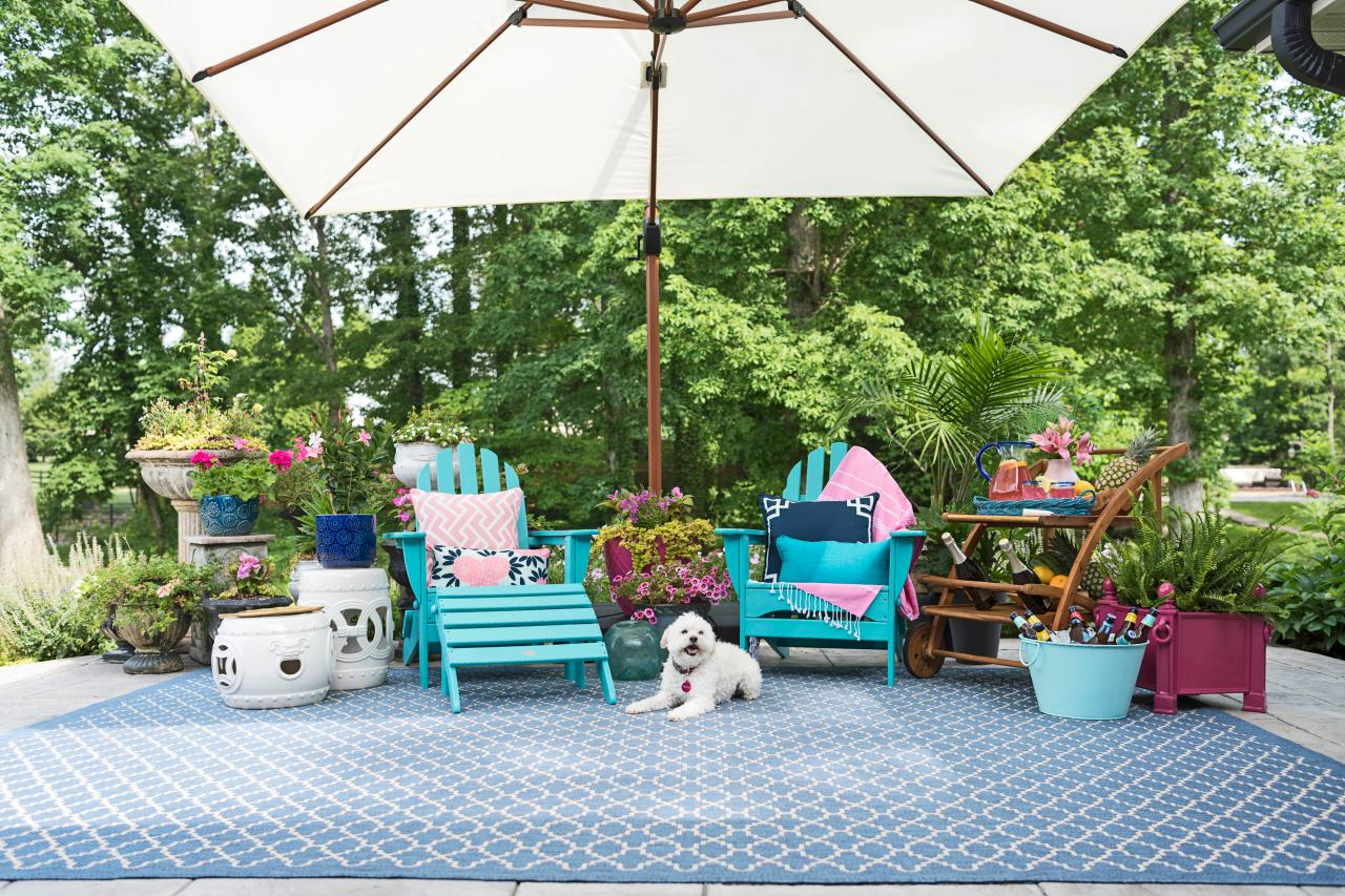 Colorful garden furniture