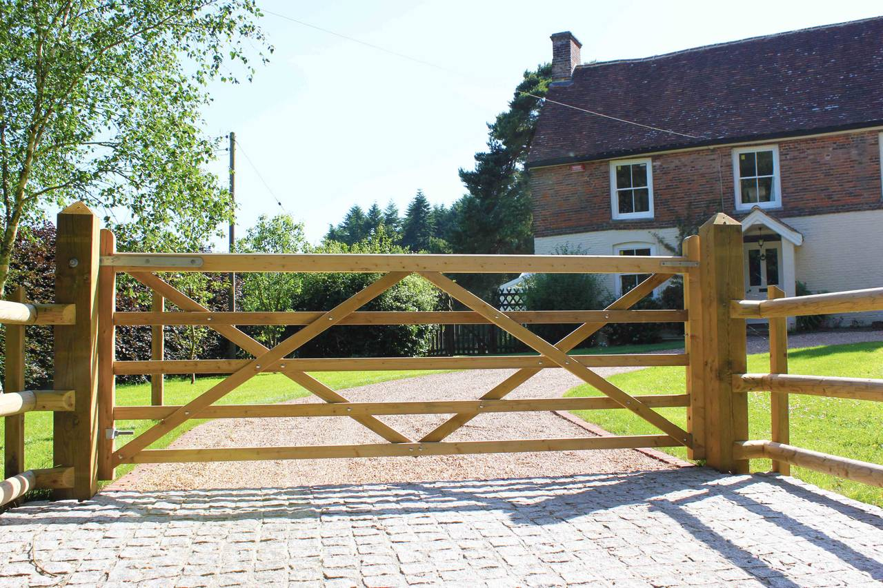 Wooden gate for the garden