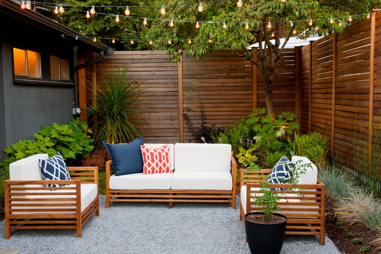 Surrounded by plants patio design