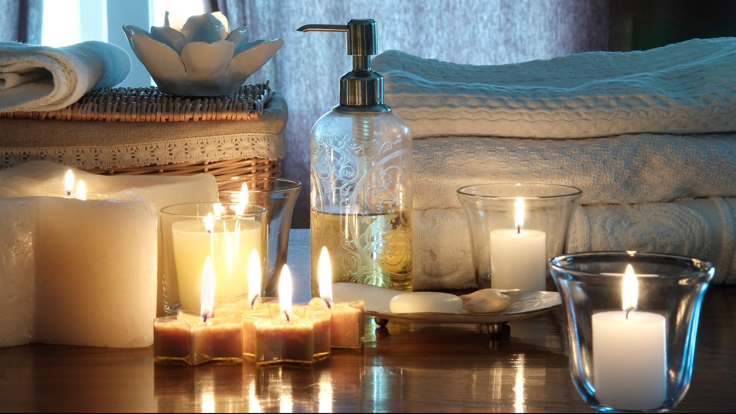 scented candles or sticks