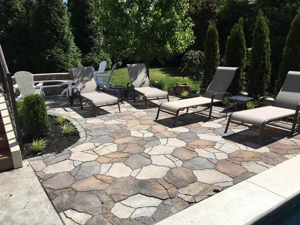 the perfect surface for backyard patio