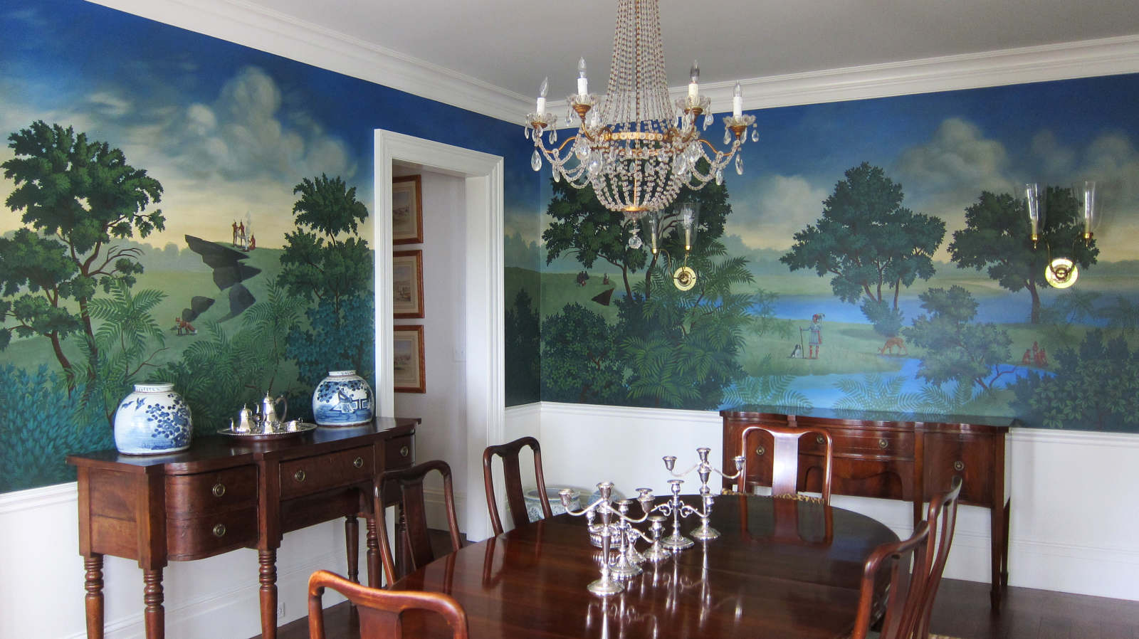 photo mural for dining room