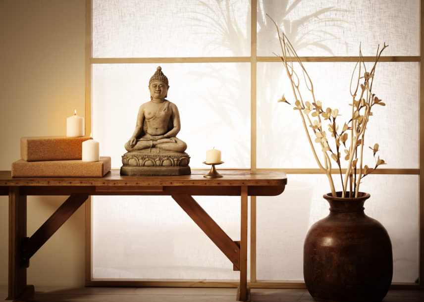 Buddha Sculpture For Yoga Room