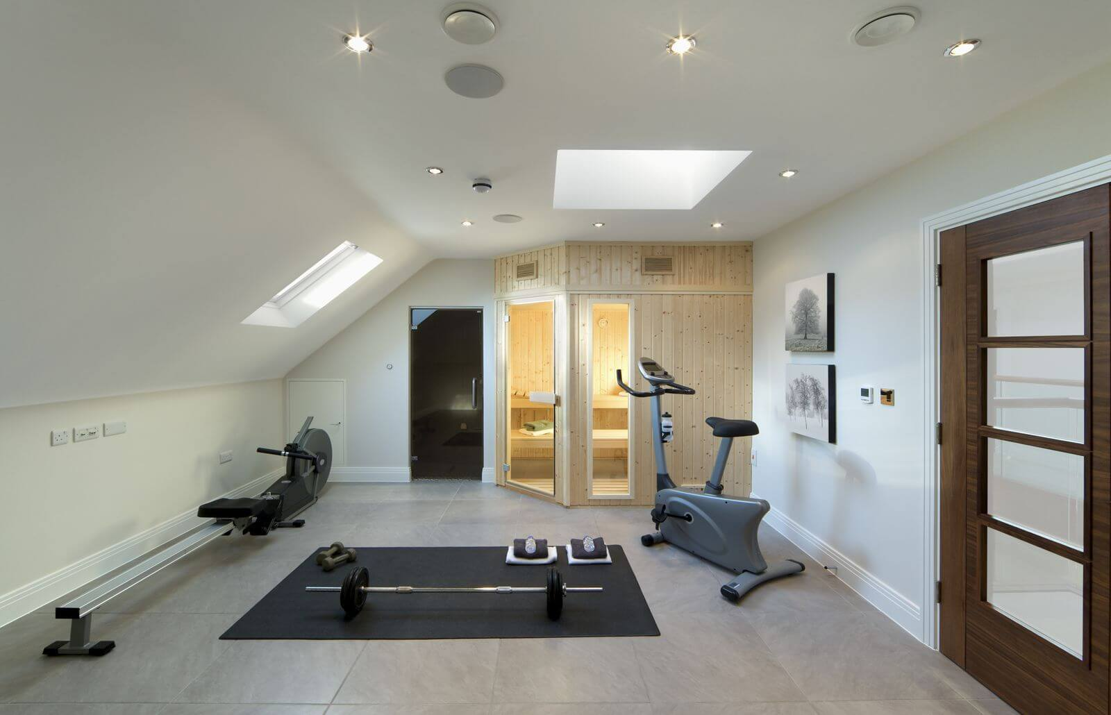 Concrete gym flooring