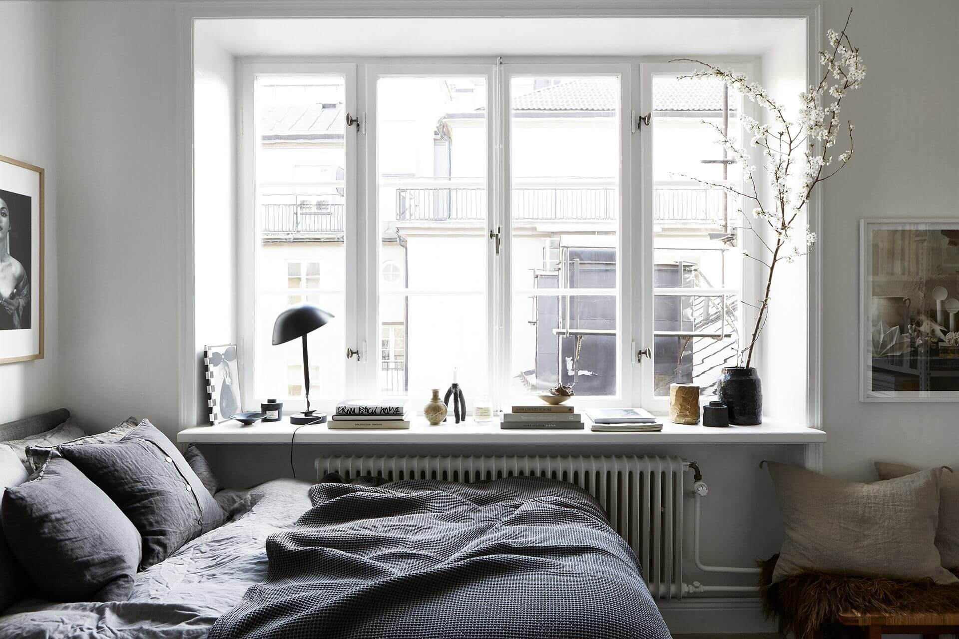 scandinavian bedrooom
