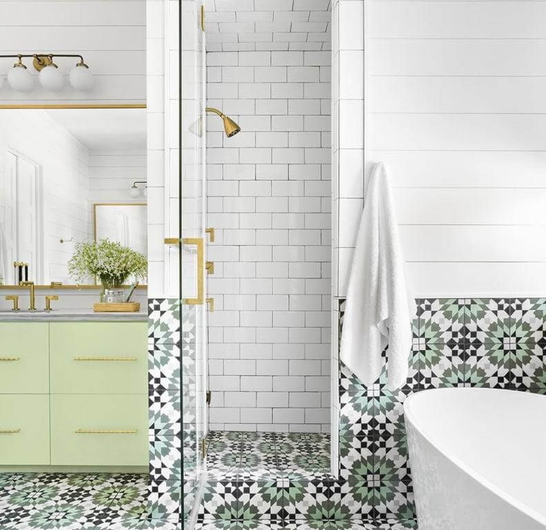 Patterned Subway Tile