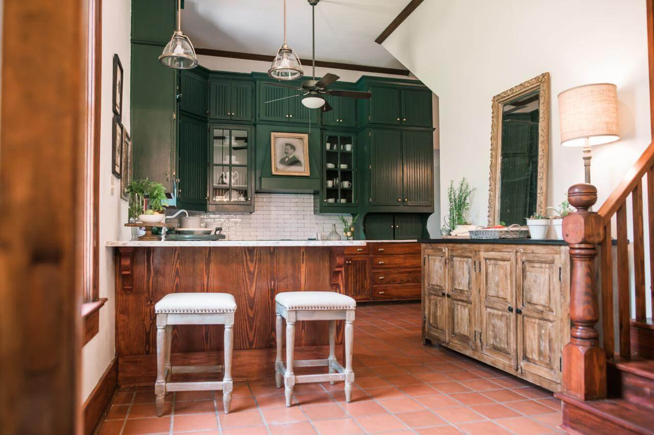 Wood and Rustic Green