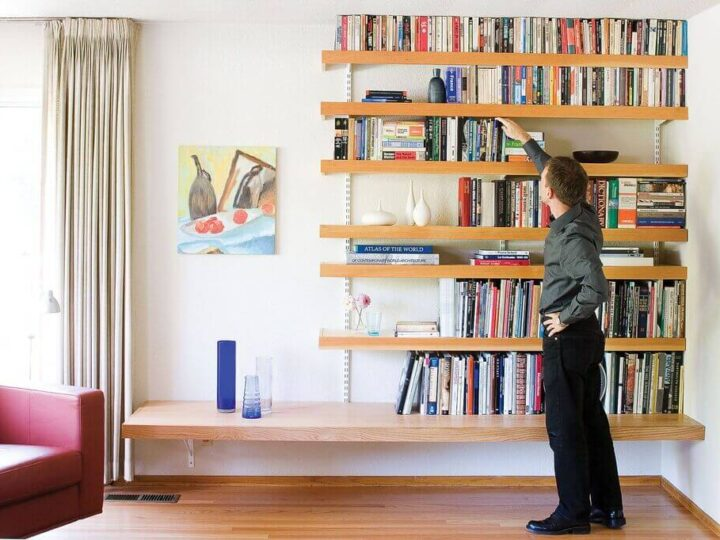 Inspiring Floating Bookshelves Ideas