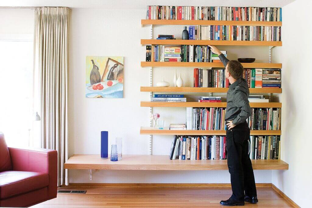 floating bookshelves ideas