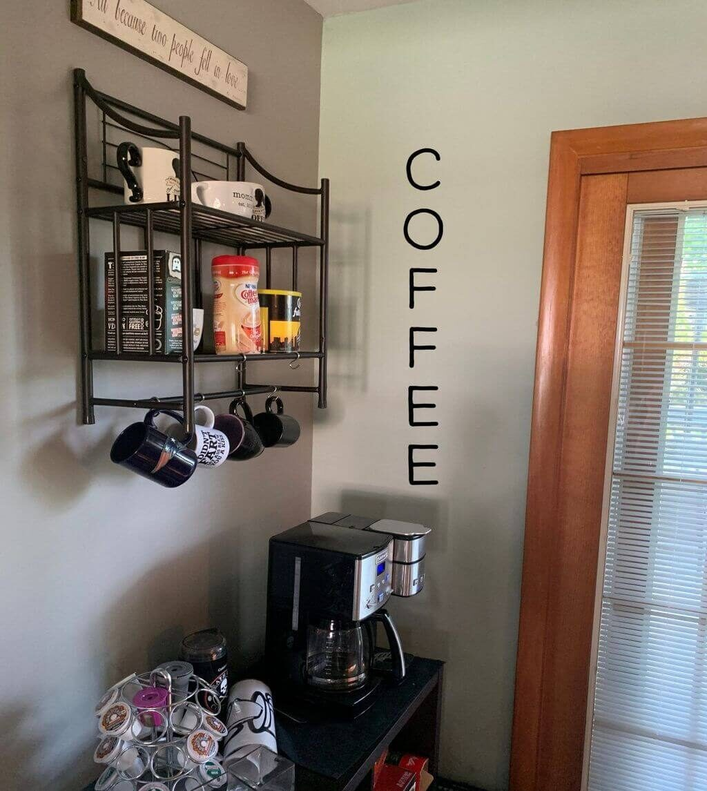 coffee bar ideas for small spaces