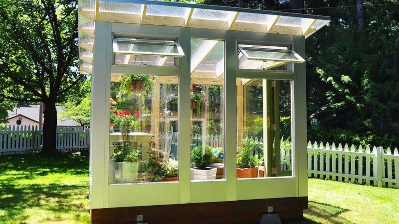 Converting a Shed into a Greenhouse